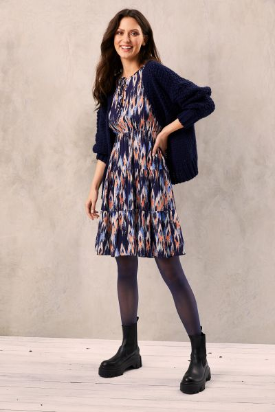 HeartKiss Damen Kleid night blue print