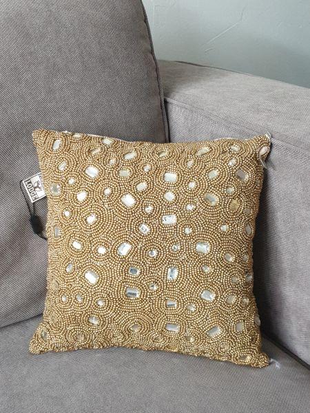 "Colmore Kissen ""Gold"" bestickt gold beige Pinelake Lodge 30 x 30 cm"