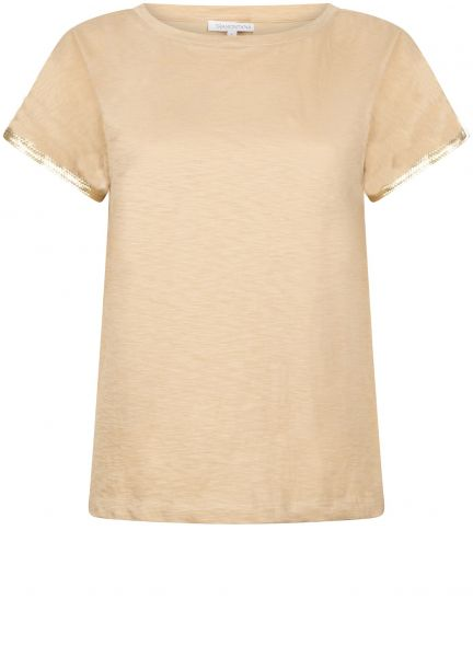 Tramontana T-Shirt Sequins Sleeve - Sand