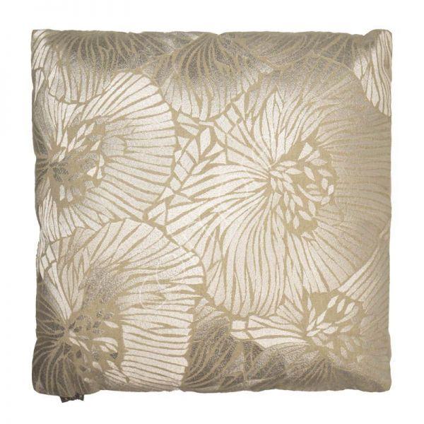 """Colmore Dekokissen """"Blumen"""" Elfenbein 50 x 50 cm"""