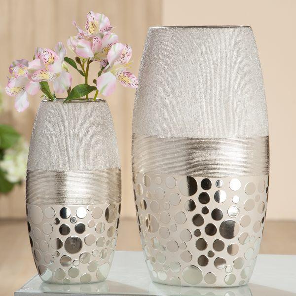 """Vase """"Capri"""" champagner 25 cm Höhe"""