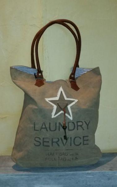 """Vintage-Tasche """"Laudrs Service"""" braun"""