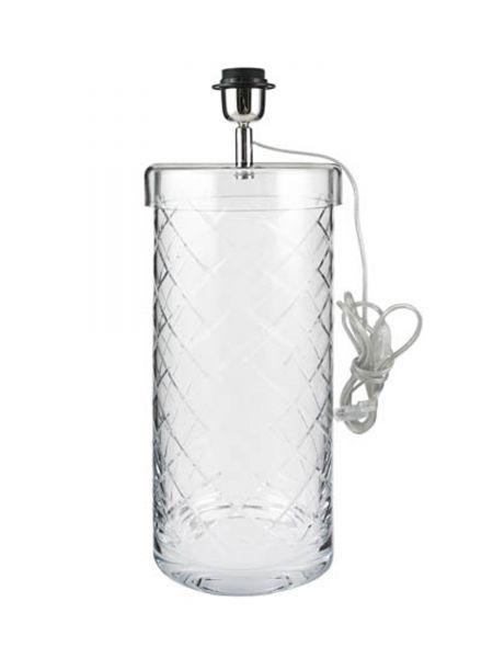 Kahaku Lampe SANTORINI Klarglas 39 cm Höhe 20 cm Ø