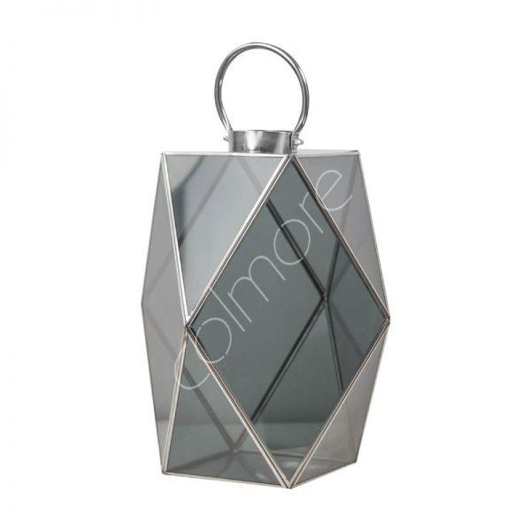 Colmore Laterne S mit schwarzen Glas 18 cm Höhe 23 cm