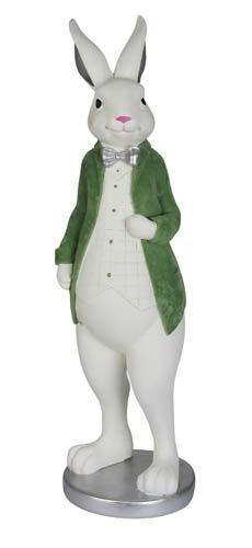 Kaheku Figur CANARO Hase weiss-grün 54 cm Höhe