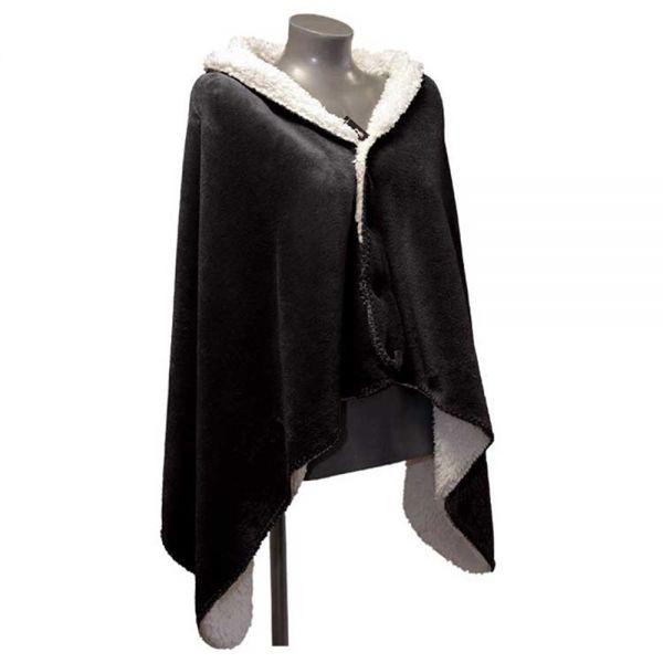 """Fleece-Umhang """"COBY"""" 75 x 150 cm Farbe black"""