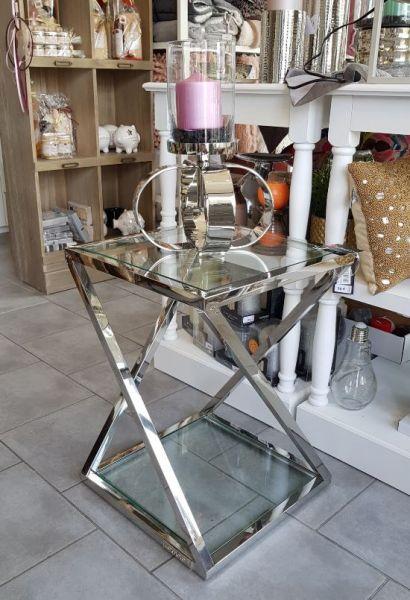 "Tisch ""CAOLE"" silber Höhe 50 cm Diga Colmore"