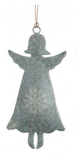 "Metallhänger ""Engel"" grün, 14 x 7 cm"