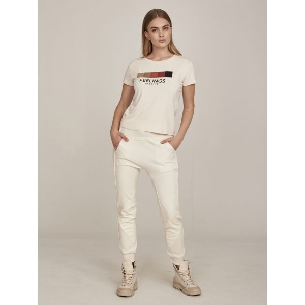 NÜ Denmark GANIKA T-Shirt SUSTAINABLE in Warm Blush mix
