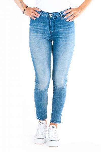 """Please Jeans """"P0SA W4F"""" Blue Denim Superstretch"""