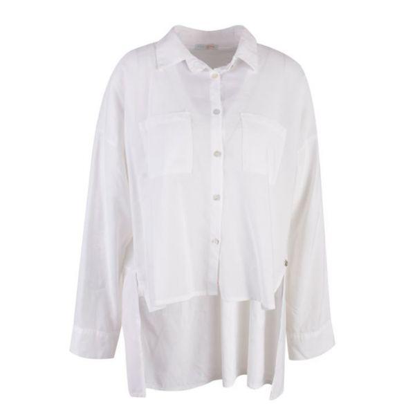 HeartKiss Damen Bluse Creme Weiß