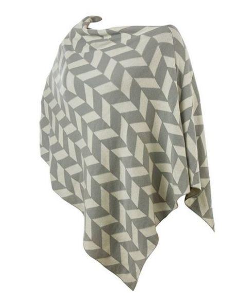 Wende-Poncho 100% Baumwolle 65 x85 cm verschiedene Farben/Muster