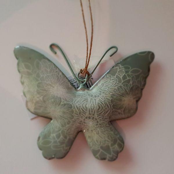 """Metallhänger """"Schmetterling"""" grün, 10 x 12 cm"""