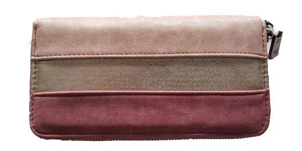 Damen - Geldbörse multicolor mit Reißverschluss