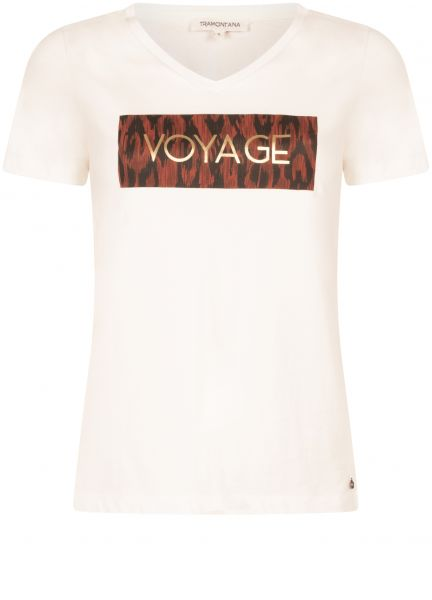 "Tramontana T-Shirt ""Voyage"" off-white"