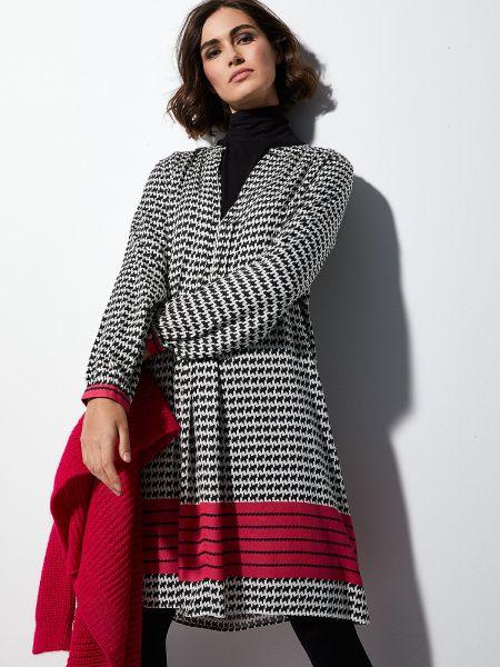 MILANO ITALY Damen Kleid, schwarz-weiß-pink
