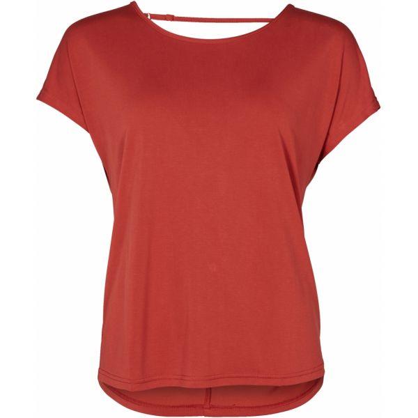 NÜ Denmark GENCY T-Shirt mit Rückenausschnitt in Paprika Rot