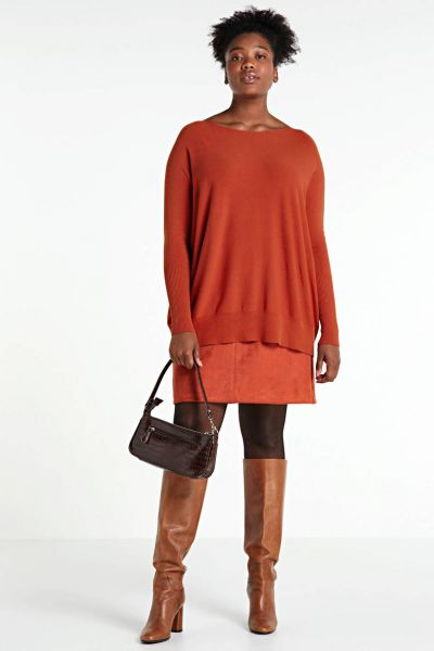 Summum Woman Oversized Pullover Farbe Brandy