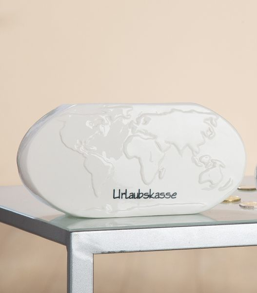 Spardose Weltkarte oder Wolke