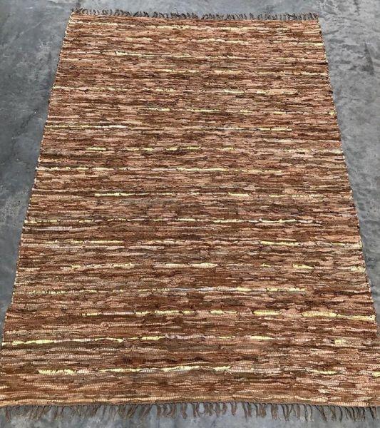 """Teppich """"Rocaflor"""" Lederstreifen, 80 x 140 cm"""