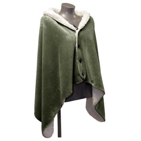 """Fleece-Umhang """"COBY"""" 75 x 150 cm Farbe deep green"""