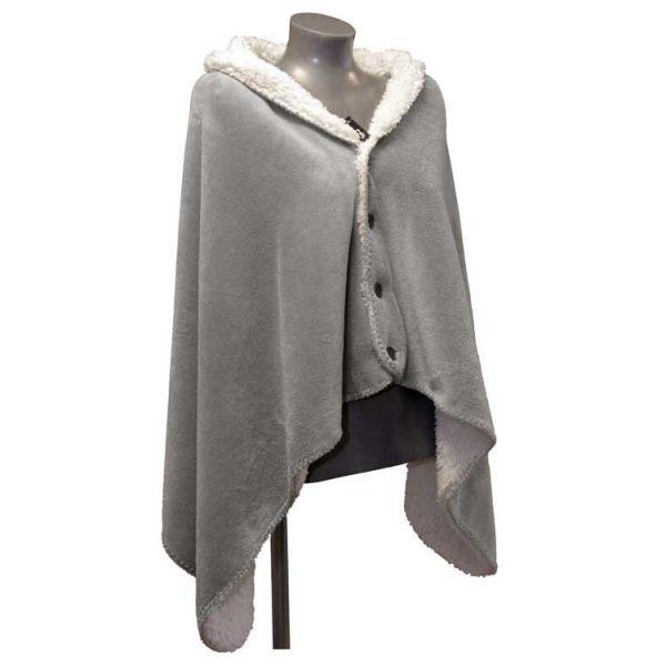 """Fleece-Umhang """"COBY"""" 75 x 150 cm Farbe grey"""