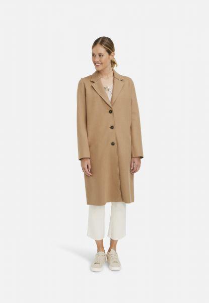 MILANO ITALY Damen Klassischer Mantel in Camel
