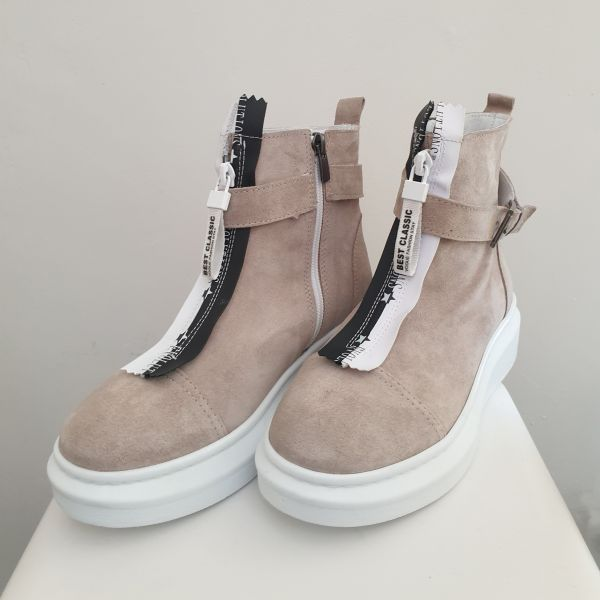 ANNƎ Shoes Damen Sneaker High Camel