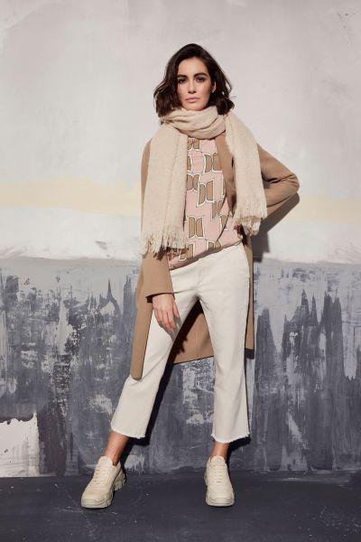 MILANO ITALY Damen Bluse - Rosa Print