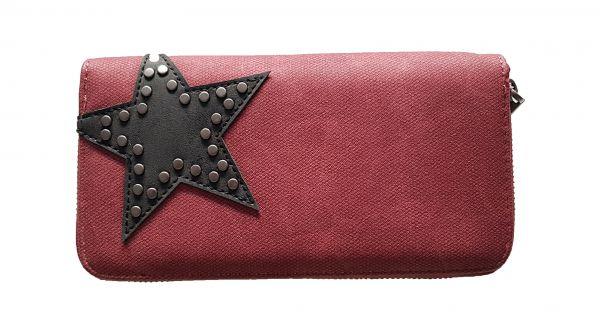 Damen - Geldbörse STAR, red mit Reißverschluss