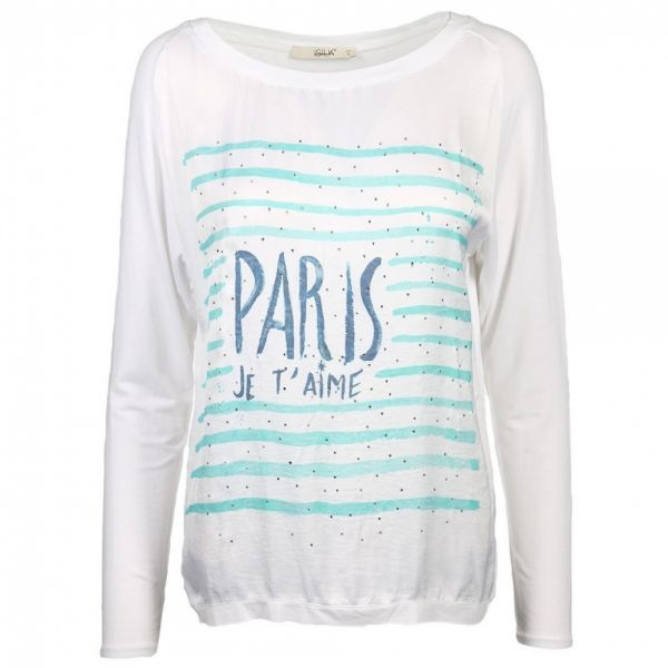 """iSILK Shirt Langarm mit Strasssteinchen """"PARIS"""""""