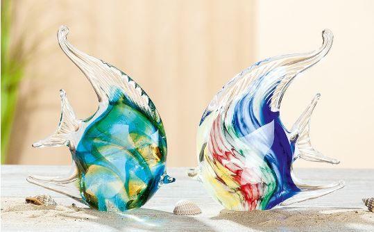"""Figur GlasArt """"Korallfisch"""" Glas mehrfarbig mundgeblasen und durchgefärbt"""