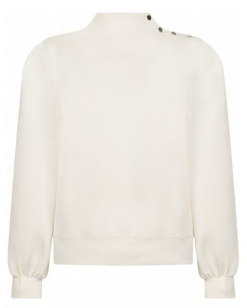 Tramontana Pullover mit Knopfdetails Creme