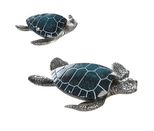 """Schildkröte """"Josie"""" Poly blau-silber"""