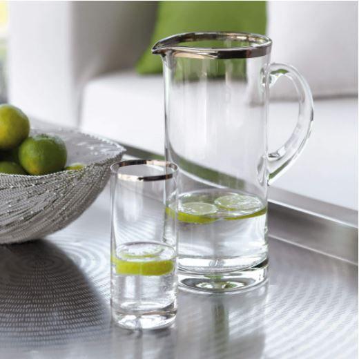 Fink Platinum Glaskrug H.25cm,1,5L