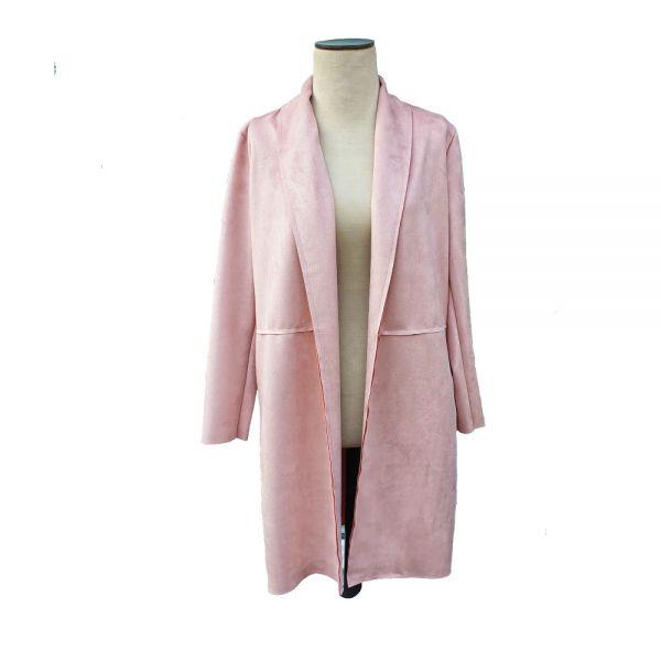 Pink Cherry Coatigan Longblazer One-Size