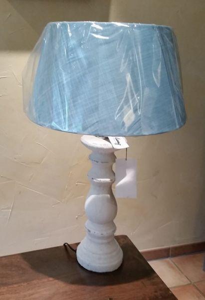 """Lampe """"Rustiek"""" Keramik weiß"""