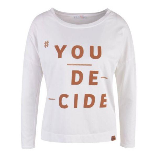 HeartKiss Damen Shirt Cognac print