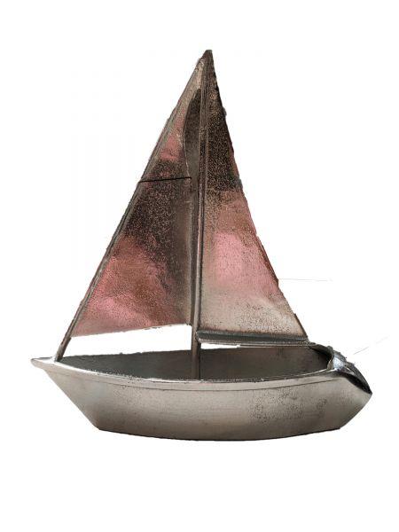 Colmore Skulptur Segelboot Aluminium vernickelt 47 cm Höhe