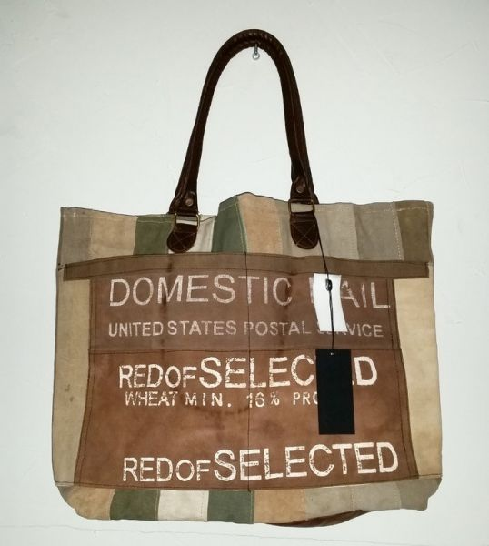 "Vintage-Tasche ""DOMESTIC MAIL"" multi"