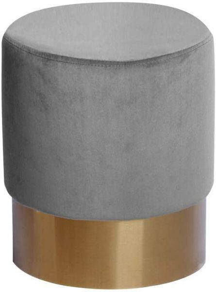 """Kayoom Design-Hocker Pouf """"Nano 100"""" Grau Ø 35 cm"""