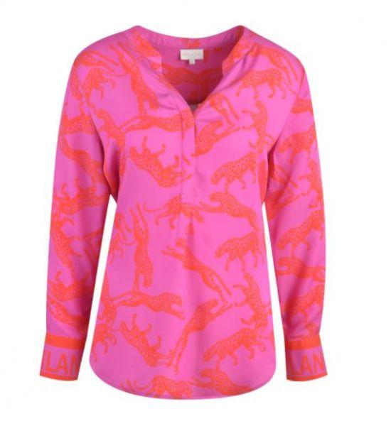 MILANO ITALY Damen Bluse - Magenta Print