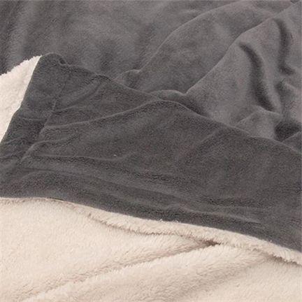 """Kuscheldecke """"LARS XL"""" 220 x 240 cm, dark grey"""