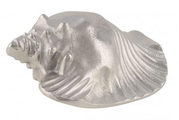 Alumuschel liegend silber 13x10x16 cm