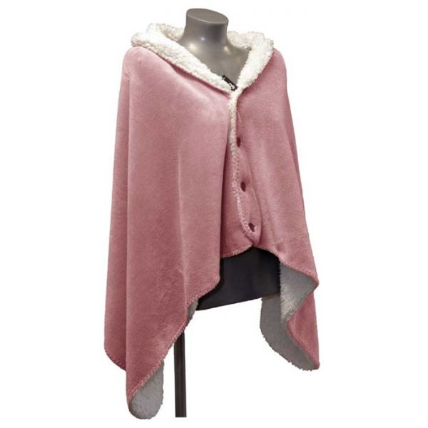 "Fleece-Umhang ""COBY"" 75 x 150 cm Farbe old pink"