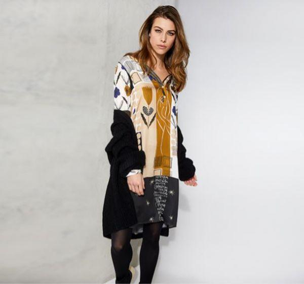 MILANO ITALY Kleid hazelnut print