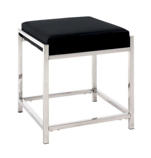 """Hocker """"Ronja"""" glänzend, Sitz gepolstert mit schwarzem Samtgewebe Höhe:47,00 cm"""