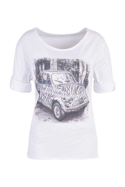 HeartKiss Damen T-Shirt weiß print