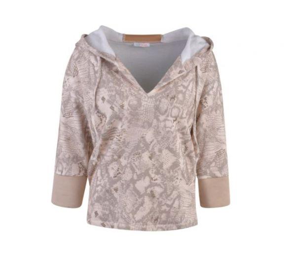 HeartKiss Damen Sweatshirt beige print