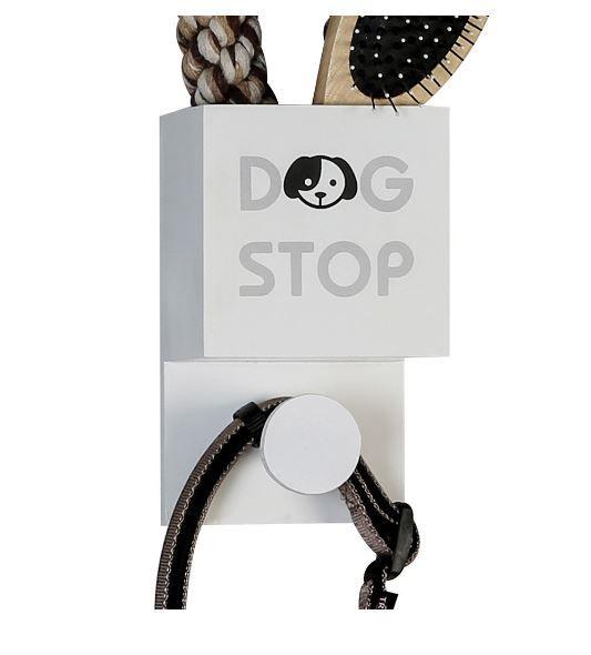 """Casablanca Hundegardarobe """"DOG STOP"""" MDF weiß zum Hängen"""
